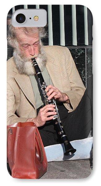 Street Musician IPhone Case by John Telfer