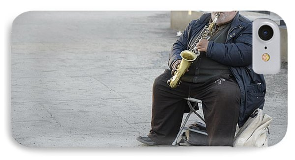 Street Musician - The Gypsy Saxophonist 3 IPhone Case by Teo SITCHET-KANDA