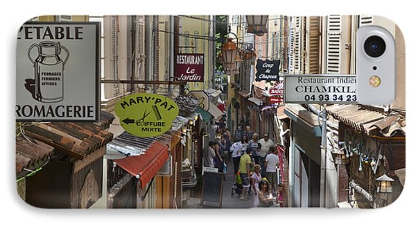 IPhone Case featuring the photograph Street Scene In Antibes by Allen Sheffield