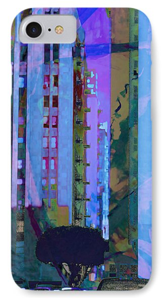 IPhone Case featuring the mixed media Street Scene La Blue by John Fish