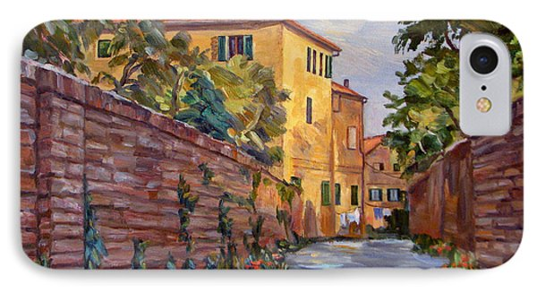 Street Scene Sienna Tuscany Phone Case by Robert Gerdes