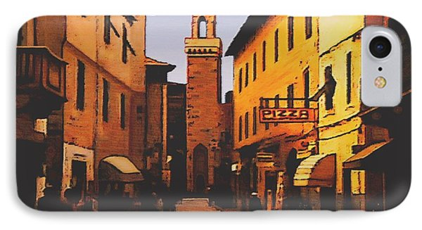 IPhone Case featuring the painting Street Scene by Sophia Schmierer