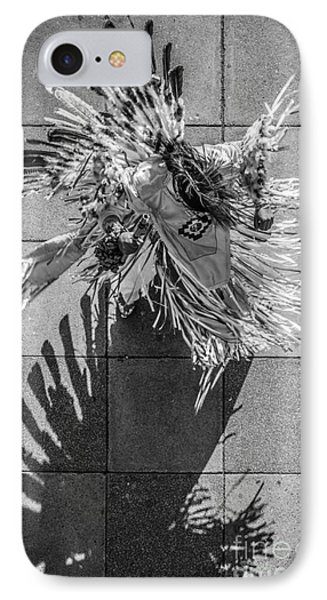 Street Shadow Dancer - Black And White IPhone Case by Ian Monk