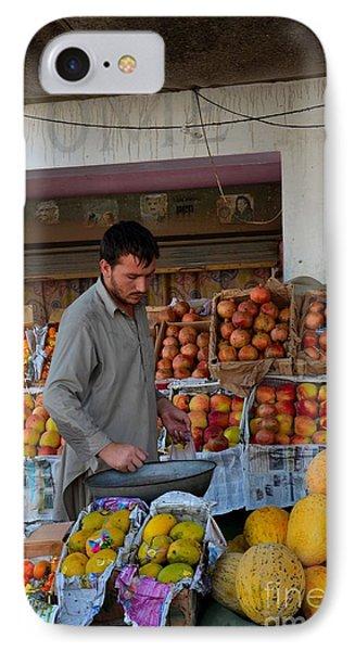 Street Side Fruit Vendor Islamabad Pakistan Phone Case by Imran Ahmed