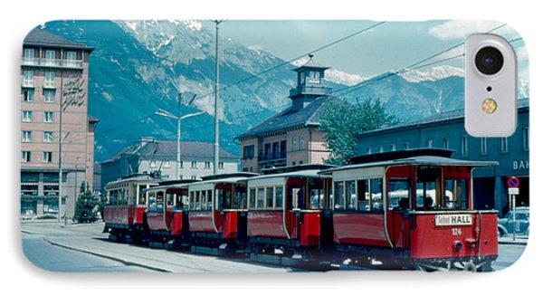 Street Train Innsbruck 1962 Phone Case by Cumberland Warden