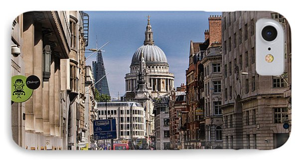 Street View Of St Paul's Cathedral IPhone Case by Nicky Jameson