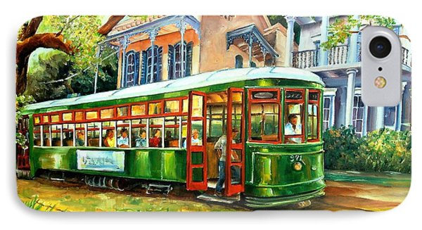 Streetcar On St.charles Avenue Phone Case by Diane Millsap