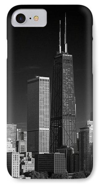 Streeterville Chicago Illinois B W IPhone Case by Steve Gadomski