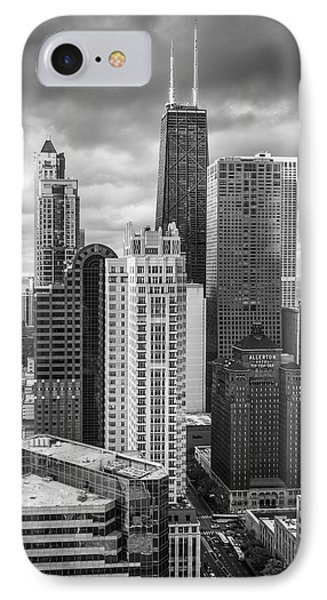 Streeterville From Above Black And White IPhone Case by Adam Romanowicz