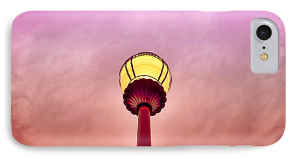 Streetlight And Clouds IPhone Case by J Riley Johnson