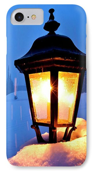 Technological iPhone 7 Case - Streetlight In A Ski Resort by David Nunuk/science Photo Library