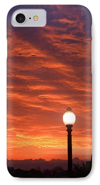 Streetlight Sunset Texas Phone Case by Tony Ramos