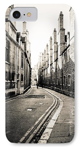 Streets Of Cambridge - For Eugene Atget Phone Case by Ross Henton