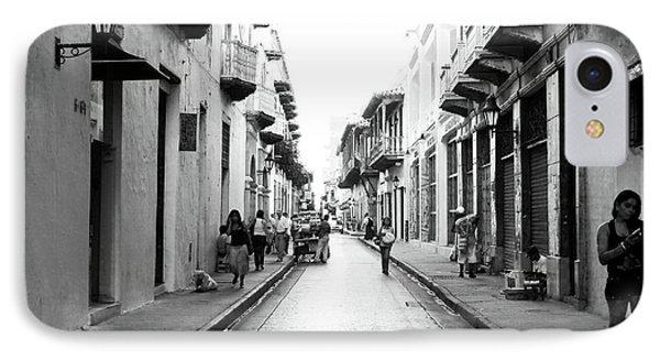 Streets Of Cartagena I Phone Case by John Rizzuto
