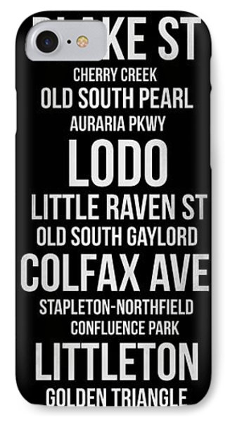 Streets Of Denver 2 IPhone Case by Naxart Studio