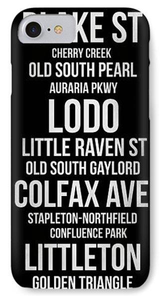 Streets Of Denver 2 IPhone Case
