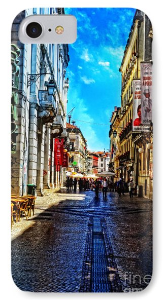 Streets Of Lisbon 1 IPhone Case by Mary Machare