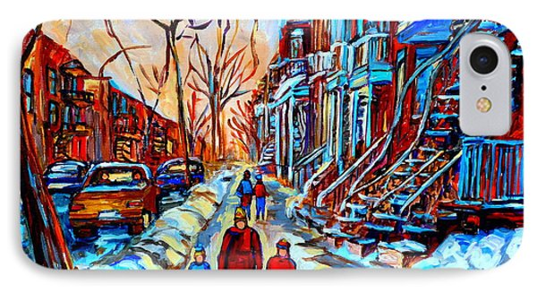 Streets Of Montreal Phone Case by Carole Spandau