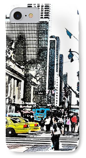 Streets Of Nyc 14 Phone Case by Mario Perez
