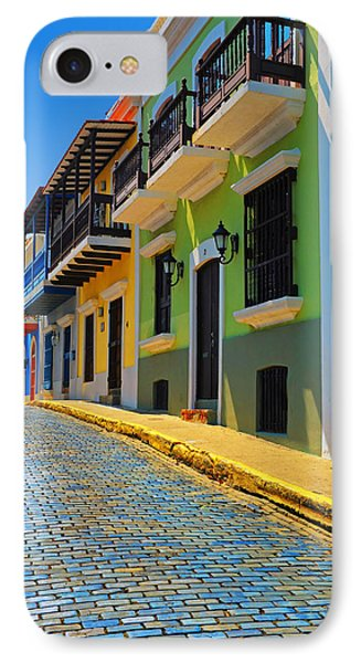 Streets Of Old San Juan IPhone Case by Stephen Anderson