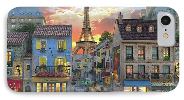 Streets Of Paris IPhone Case by Dominic Davison