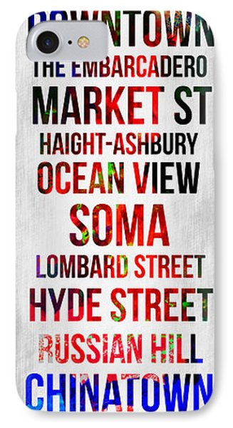 Streets Of San Francisco 1 IPhone Case by Naxart Studio