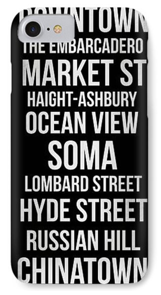 Streets Of San Francisco 2 IPhone Case by Naxart Studio