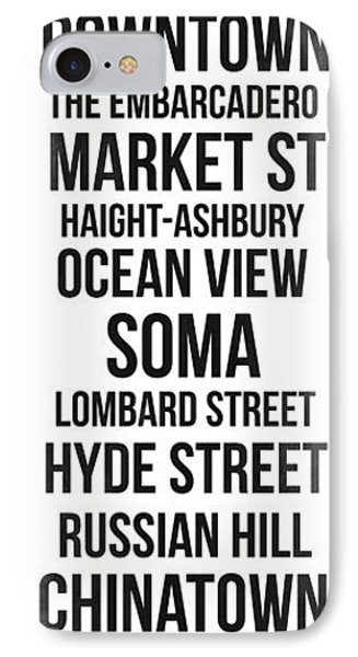 Streets Of San Francisco 3 IPhone Case by Naxart Studio