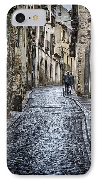 Streets Of Segovia Phone Case by Joan Carroll