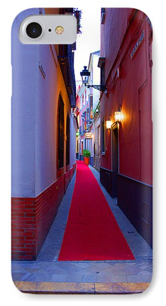 Streets Of Seville - Red Carpet  IPhone Case by Andrea Mazzocchetti