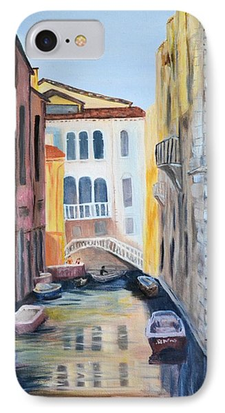Streets Of Venice IPhone Case by Debbie Baker