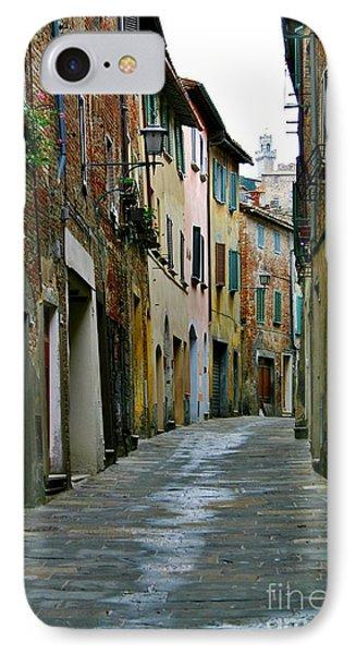 Streetscape Tuscany IPhone Case by Henry Kowalski