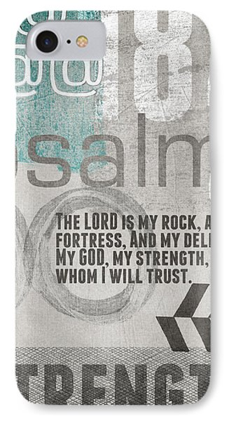 Strength And Trust- Contemporary Christian Art Phone Case by Linda Woods