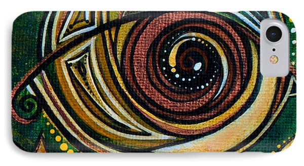 IPhone Case featuring the painting Strength Spirit Eye by Deborha Kerr