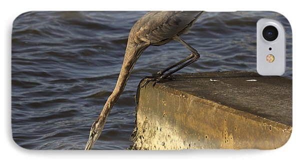 IPhone Case featuring the photograph Stretch - Great Blue Heron by Meg Rousher