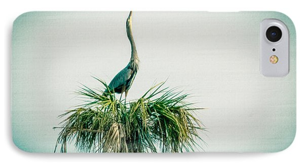 Stretching Heron Phone Case by Bob and Nancy Kendrick