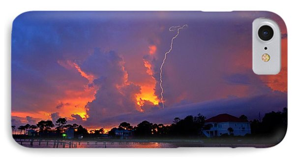 Strike Up The Middle At Sunset IPhone Case by Jeff at JSJ Photography