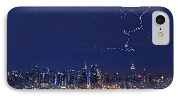 Strikes And Bolts In Nyc Phone Case by Susan Candelario
