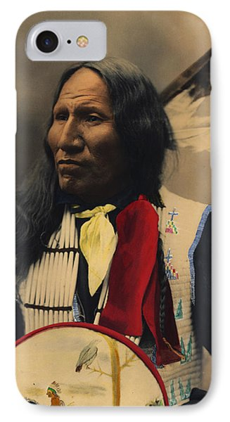 Strikes With Nose Oglala Sioux Chief  IPhone Case by Heyn Photo