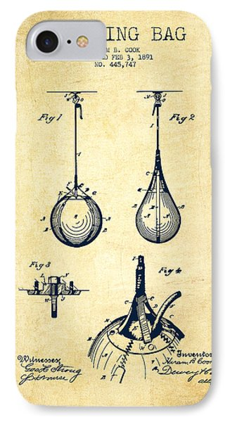 Striking Bag Patent Drawing From 1891 - Vintage IPhone Case by Aged Pixel