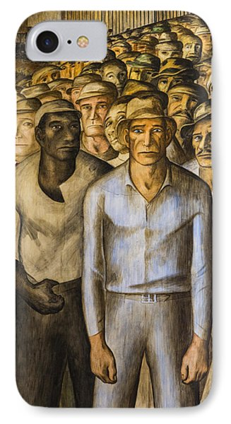 Striking Miners Mural In Coit Tower IPhone Case by Adam Romanowicz