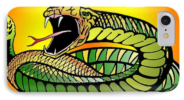 Striking Snake Phone Case by John Keaton