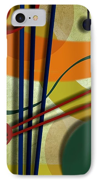 Abstract Strings IPhone Case by Ron Grafe
