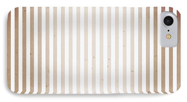 Striped Retro Wallpaper. Interior Background IPhone Case by Jorgo Photography - Wall Art Gallery
