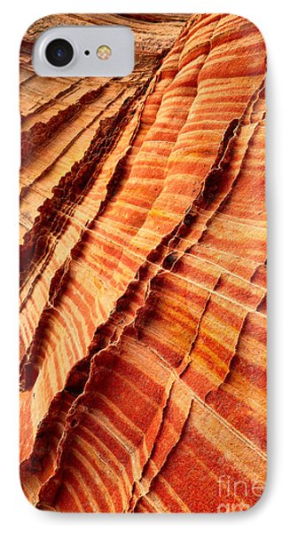 Striped Sandstone IPhone Case by Inge Johnsson