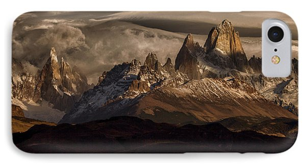 South America iPhone 7 Case - Striped Sky Over The Patagonia Spikes by Peter Svoboda, Mqep