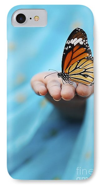 Striped Tiger Butterfly IPhone 7 Case by Tim Gainey