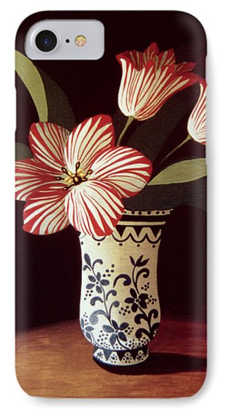 Striped Tulip  Phone Case by Dory Coffee