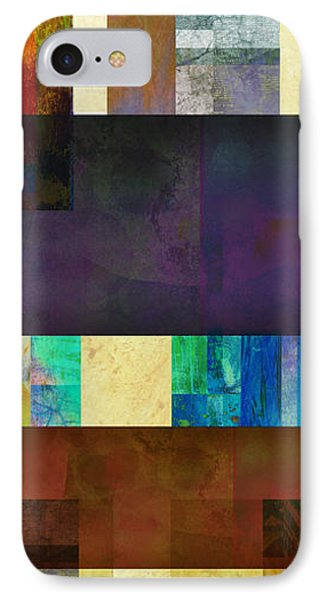 Stripes And Squares - Abstract -art Phone Case by Ann Powell