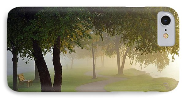 Stroll In The Fog Phone Case by Terri Gostola